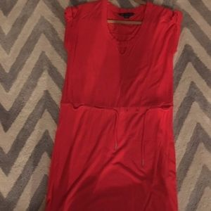A/X Armani Exchange cotton coral tunic dress